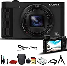 Sony Cyber-Shot DSC-HX80 Digital Camera (DSCHX80/B) with Bag, Tripod, Extra Battery, 64GB Memory Card, Memory Card Reader and More.
