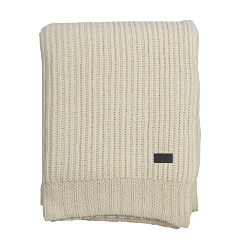 GANT Home RIB KNIT THROW Decke 130x180 eggshell