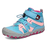 Mishansha Boys Hiking Boots Walking Running Non-Slip Girls Sneakers Outdoor Water Resistant Kids Trekking Shoes Sky Blue Toddler 10