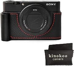 kinokoo Handle Camera Half Case for SONY RX100 RX100M2 RX100M3 RX100M4 RX100M5 RX100M6 RX100M7 Genuine Leather Grip Case  black