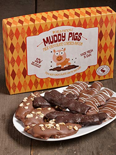 Variety Gourmet Chocolate Covered Bacon 'Muddy Pigs' Gift Box 12 oz.