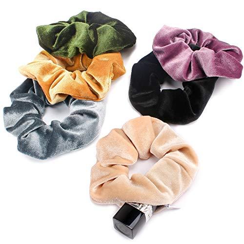 Kicosy 6pcs Scrunchies for Hair Scrunchies Velvet Scrunchies with Pockets Towel Scrunchies for Hair Scrunchie with Zipper Scrunchie Velvet Kitsch Towel Scrunchie with Pocket Loki Stashed Scrunchies