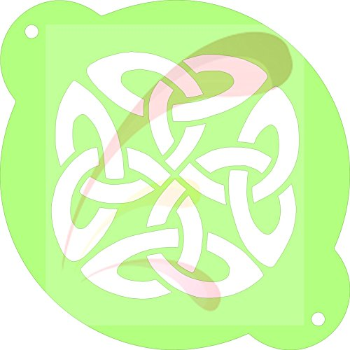 Celtic Knot, Cookie stencil, Cake Stencil, Coffee Stencil, Candy Stencil, Cupcake stencil for Royal Icing, powders, sugars, edible glitters and Airbrushing