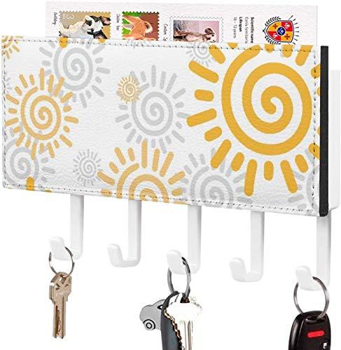 Gancho para llaves montado en la pared, clasificador de correo, organizador para llaves de correo de montaje en pared, estilo clásico amarillo, luz solar, decoración del hogar para la entrada, estant