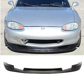 TC Sportline BO-MAMI994121 GV-Style Polyurethane PU Front Bumper Lip Spoiler for 1999-2004 MAZDA MIATA