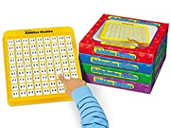 Our set of math machines puts fun math practice right at kids' fingertips Self-directing machines are totally self-checking--great for independent skill-building practice Perfect for teaching and reinforcing addition, subtraction, multiplication and ...