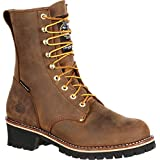 Georgia Boot Steel Toe Waterproof 400G Insulated Logger Work Boot Brown