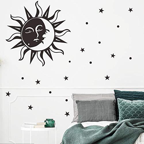 European Style Home Decor Wallpaper Cartoon Sun Moon Star Wall Stickers Creative Boy Bedroom Wallpaper Self Adhesive Wall Mural
