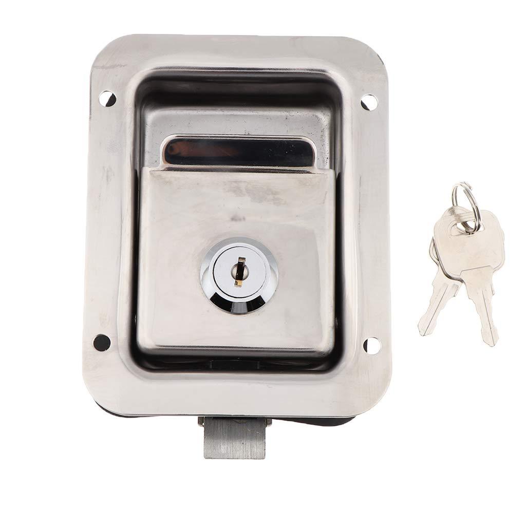Cerradura De La Puerta Del Remolque De La Caja De Herramientas De La Manija Rv Latch 4.65x3.62inch Paddle Key: Amazon.es: Bricolaje y herramientas