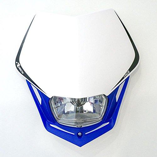 Scheinwerfer Motorrad Lampenmaske V-Face blau/weiß universal 35/35W + Standlicht
