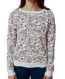 Pusheen The Cat Rainbows Unicorns and Mermaids Juniors Sweatshirt (XL)