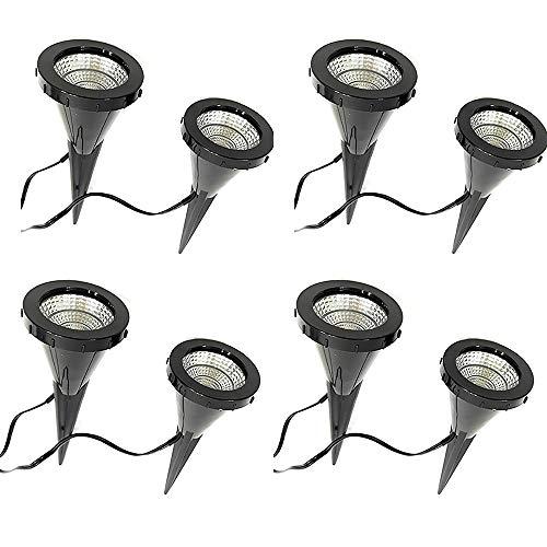 "4 x 2 LED-Pflanzen-Strahler\""Jasmin\"" Handschalter LED-Pflanzen-Strahler-Spot Blumen-Zimmerpflanzen-Blumenkübel-Blumentopf-Strahler-Spotlight Dekorations-Stimmungs-indirekter-Strahler-Spot"