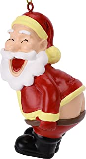 Tree Buddees Funny Mooning Santa Claus Christmas Tree Ornament