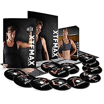 XTFMAX  90 Day DVD Workout Program with 12 Exercise Videos + Training Calendar & Fitness Guide and Nutrition Plan