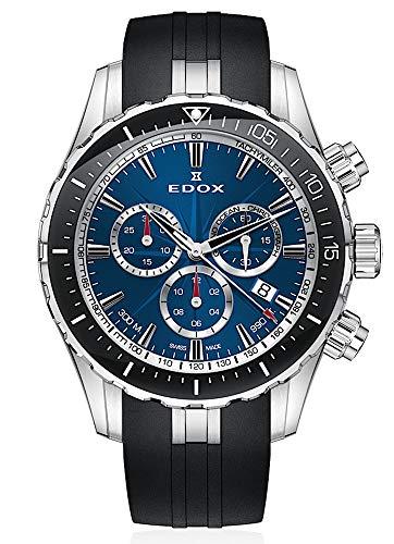 EDOX Herren-Armbanduhr Grand Ocean Chronograph Datum Analog Quarz 10248 3 BUINN