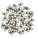 MagiDeal 50 Pezzi Girevoli Connettori Assortimento Articoli di Gioielleria Monili Fabbricazione Strumenti - Bronzo, 19 mm