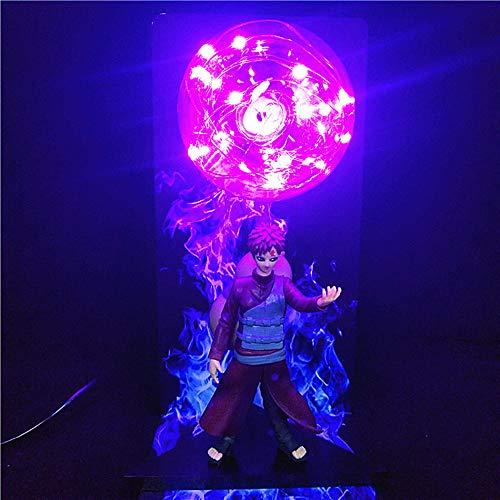 Figura de Naruto Lámpara de luz Naruto Uchiha Itachi Sasuke Madara Pain Gaara Luces de noche LED creativas Lámpara de escritorio Modelo Juguetes Figura Estatua Decoración Niños Regalos