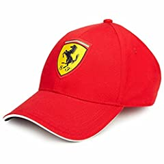 Signature prancing horse woven logo on front Domed crown Curved peak Adjustable strap Polyester