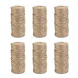 Natürliche Jute-Schnur auf Rollen, 2.000 m, 2,2 cm, 3 Schichten, Jute-Seil für Kunstwerke,...
