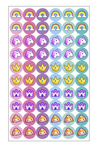 Haberdashery Online 60 Etiquetas para emparejar Calcetines: Fantasy - Emparejadores termoadhesivos