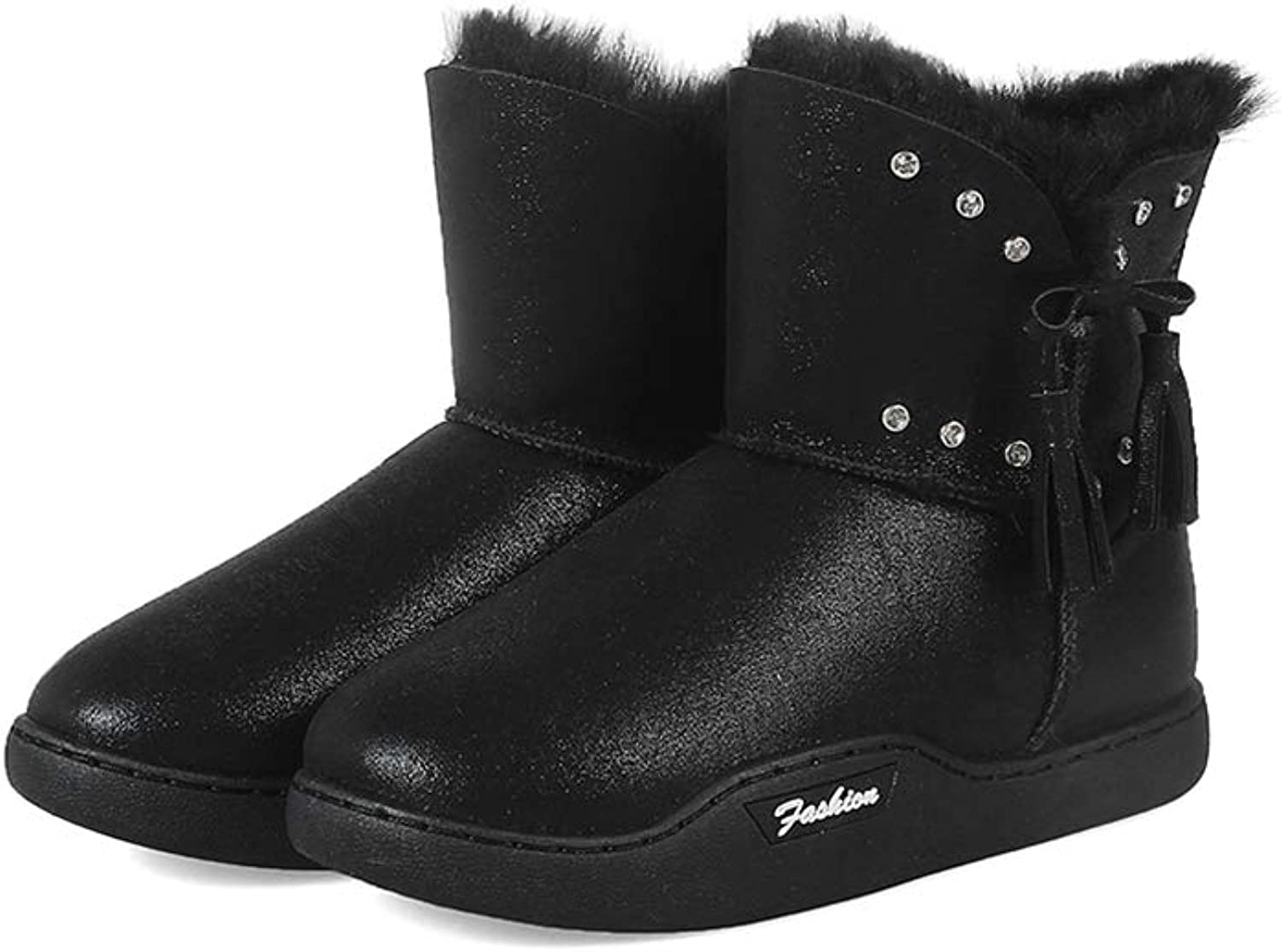 T-JULY Girls Boot Snow Boot shoes Ladies Winter Boots Warm Fur Ankle Boots Women Winter shoes