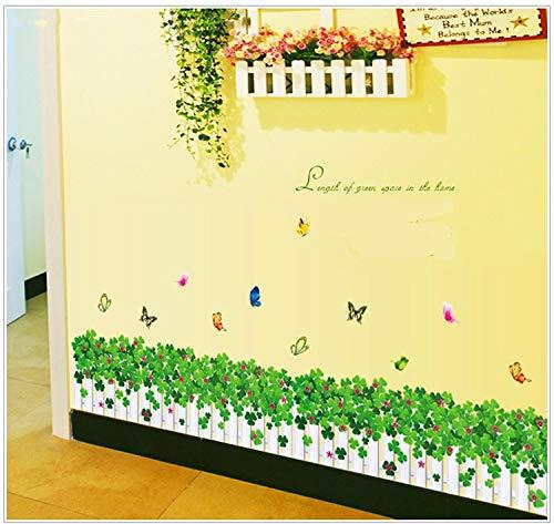 MMLFY Autocollant Mural Bar Affiche Papillon Autocollant Fleur décoration Murale drôle Chambre Joie Mur Autocollant Affiche Coeur décoration de la Maison