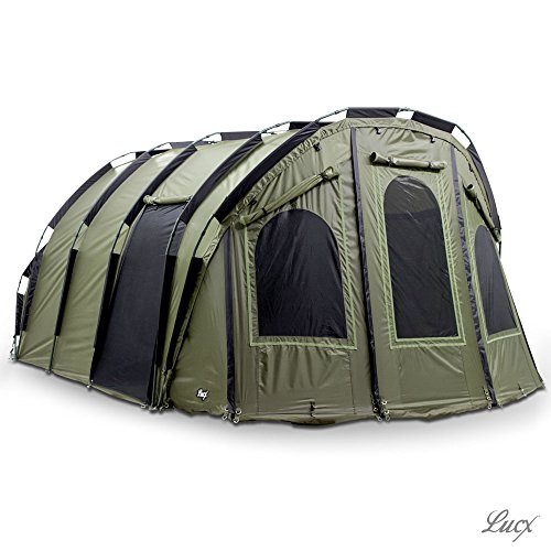 Lucx® Bivvy 'Bigfoot' Angelzelt 2-6 Man XXL Karpfenzelt Carp Dome Fishing Tent Camping Zelt