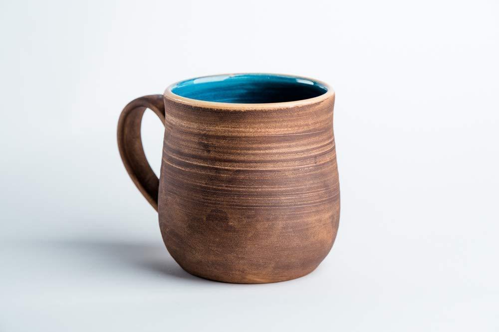 Pottery coffee mug Blue ceramic Ranking TOP7 Handmade Rustic Seattle Mall cup Tea