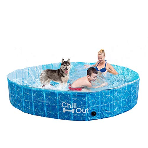 All for Paws Extra Large Dog Swimming Pool, Collapsible Pet Bathing Tub,...