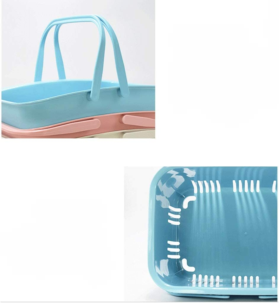 Color : Blue Panier /à Provisions Supermarch/é panier Petit panier en plastique Votre panier casse-cro/ûte Convenience Panier magasin Cabas de Courses
