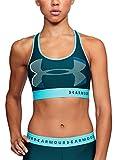 Under Armour Armour Mid Keyhole Big Logo Sujetador Deportivo, Azul (574), M para Mujer