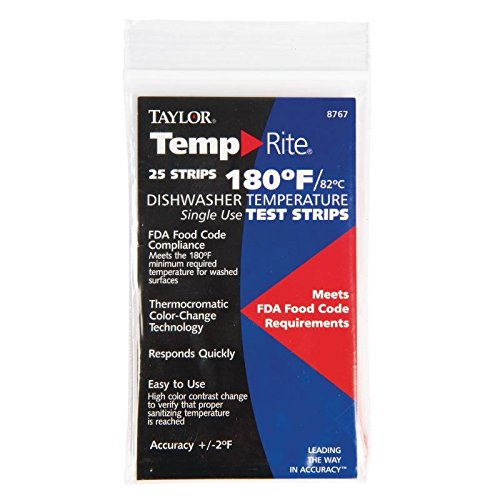 Dishwasher Temperature Test Strip (Pack of 25) - [GJ059]