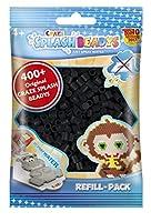 CRAZE- fusibles CSB Splash BEADYS Recharge Pack Artisanales Perle Noir sans Chaleur Set 11751