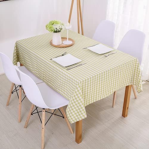 DSman Manteles de Mesa para Fiesta Antimanchas Resistente a Líquidos de Estilo Moderno para Mesa Algodón y Lino Modernos, Sencillos y Frescos.