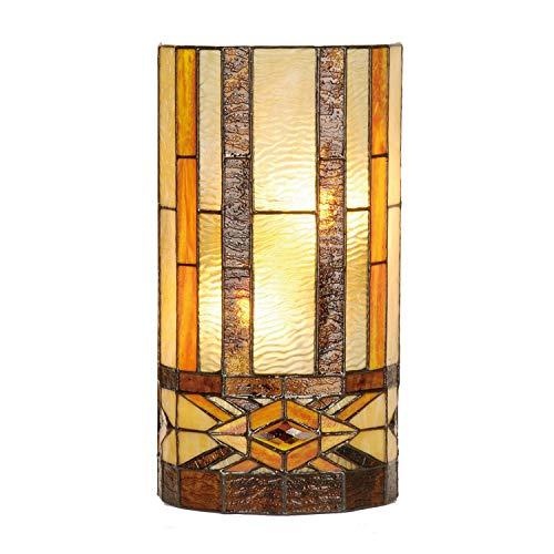 Lumilamp 5LL-9286 Wandlampe Wandleuchte im Tiffany-Stil 20 * 11 * 36 cm 2x E14 max 40w dekoratives buntglas handgefertigt glasschirm