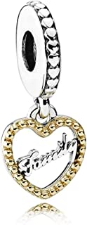 Pandora Two Tone Gold Heart Spacer - 792011
