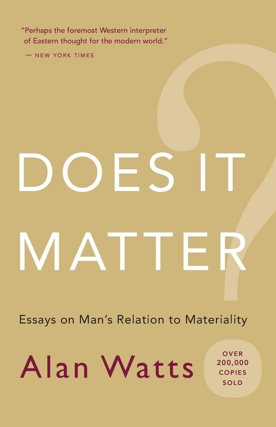 Does It Matter?: Essays On Man S Relation To Materiality