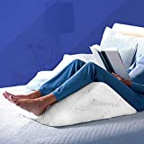 The Angle by Back Support Systems | Eco Friendly, Medical Quality Memory Foam Bed Wedge Leg Pillow for Back Pain | Guaranteed to Help Reduce Back Pain Immediately (Bamboo, Extra Wide)