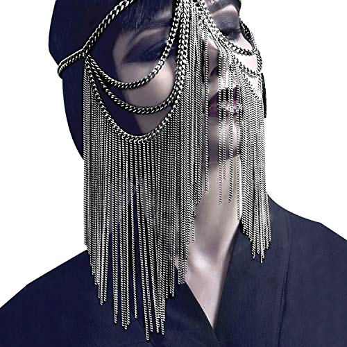 Kapmore Halloween Maske Maskenball Maske Kopf Kette Haarschmuck