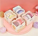 40Rollos Cinta de papel Washi,Cinta adhesiva decorativa cinta adhesiva de color,para bricolaje, manualidades decorativas, envoltura de regalos, álbum de recortes. (10 mm * 2 M)