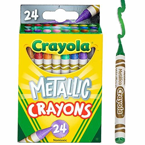 Crayola Metallic Crayons, 24Count, Multi, 4.5' x 2.8' x 1.1' (528815)