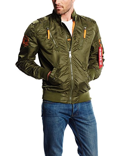 Alpha Industries Herren Falcon II Jacke, Grün (Dark Green 257), Large