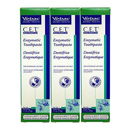 Virbac Dental Chews CET1033 VanillaMint Toothpaste 3 Pack 25 oz