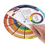 Papel Rueda De Color, Rueda De Color, Cromático Círculo De Colores Guía De Aprendizaje Mezcla De Colores De Uñas Suministros Cromatografía Pigmento Del Tatuaje Para La Visita De Moda Del Maquillaje