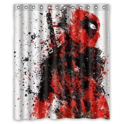 Owen Cocker Deadpool Duschvorhang, 180 x 180 cm