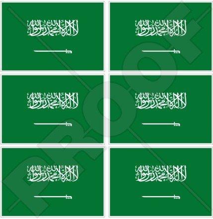 Saudi-Arabien Flagge Araber, Arabisch 40mm (40,6cm) Mobile Handy Vinyl Mini Sticker, Aufkleber X6