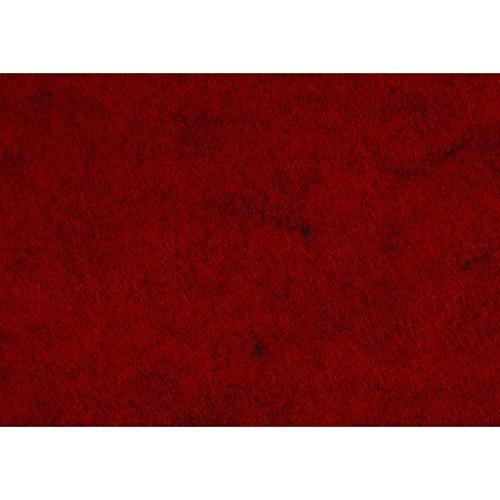 Creativ Company Artisanat feutre, 21x30 cm, texturé, 10 feuilles rouge