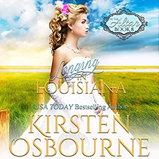 Longing in Louisiana     At the Altar Series, Book 8              By:                                                                                                                                 Kirsten Osbourne                               Narrated by:                                                                                                                                 Tiffany Williams                      Length: 3 hrs and 23 mins     Not rated yet     Overall 0.0