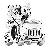 Annmors Abalorio de Mickey Minnie de Disney, de plata de ley 925, para pulseras y collares europeos