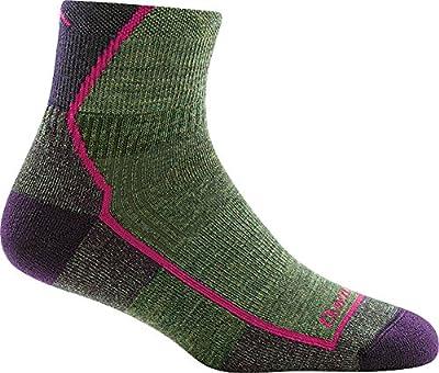 Darn Tough Hiker 1/4 Cushion Sock - Women's Moss Heather Medium